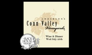 Wine Dinner with Anderson's Conn Valley Vineyards