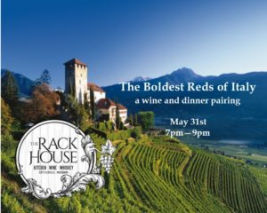 The Boldest Reds of Italy - a wine and dinner pairing
