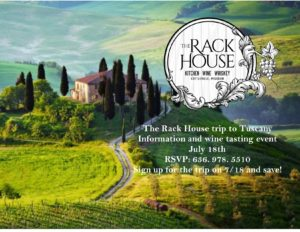 Information about the Rack House trip to Tuscany