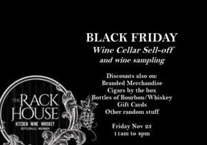 Black Friday Wine Cellar Sell-off